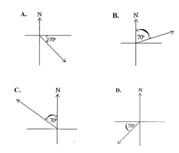 2014 bece past questions math bearings2